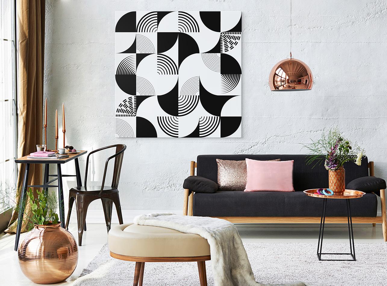 obraz abstrakcja czarnobiała